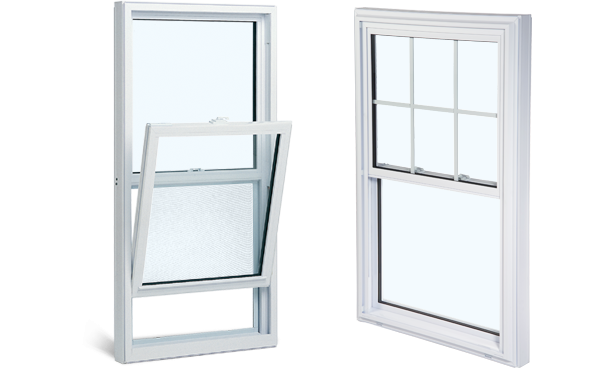 single tilt hung windows