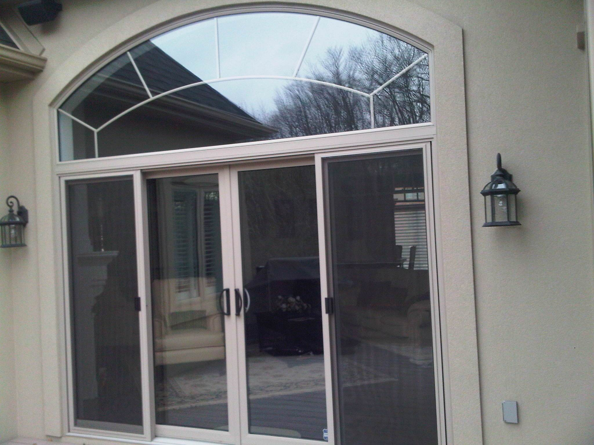 12 ft patio door transom with grills
