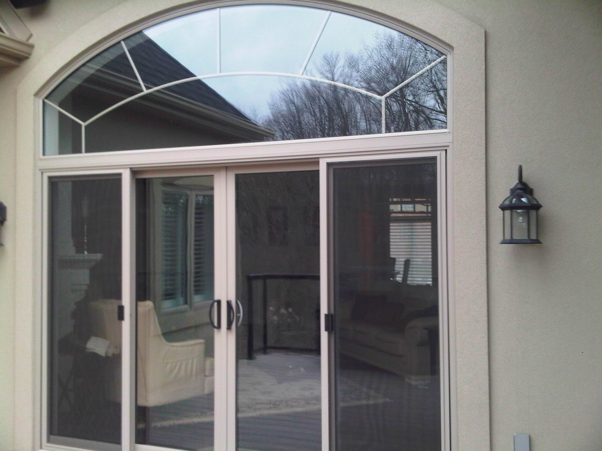 12 ft patio door with transom
