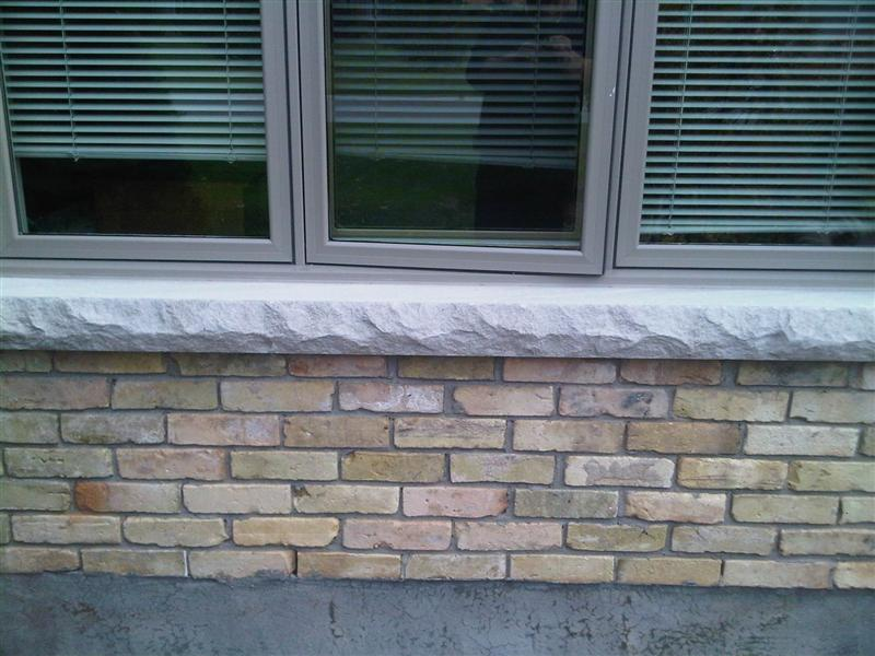 4 inch cement sills replacing soldier bricks