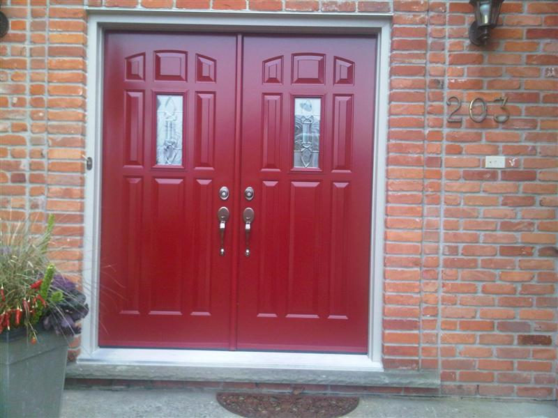 Double door system 9 lite with glass in middle