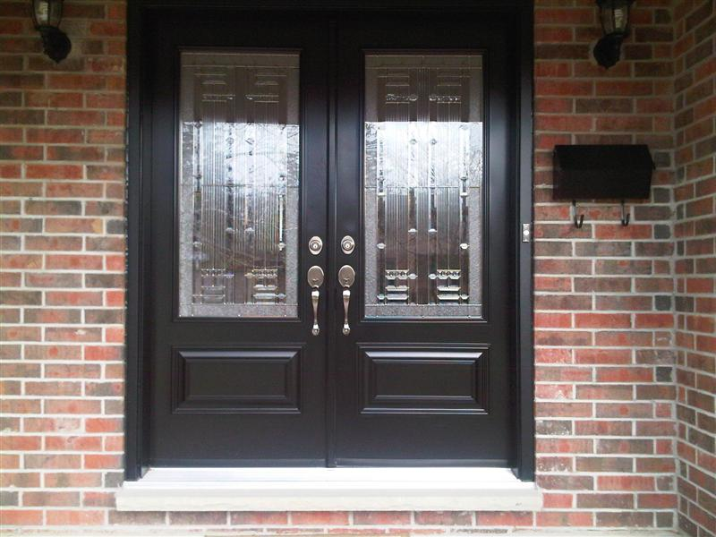 Double door with executive panels