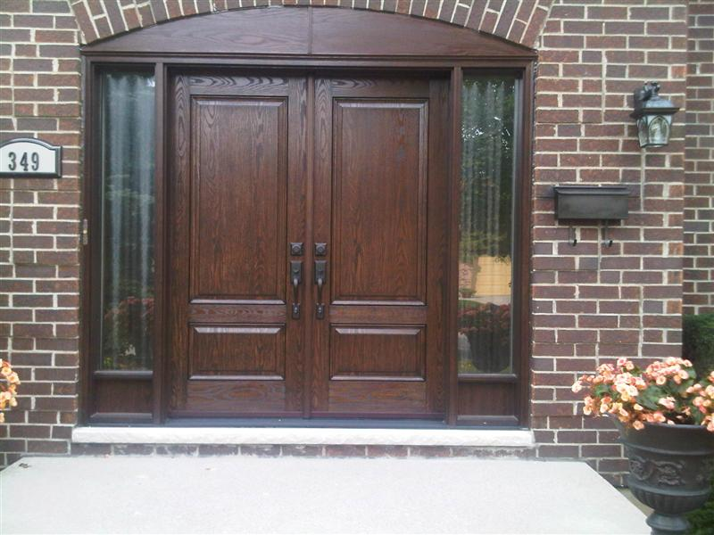 Executive double door system with matching sidelights
