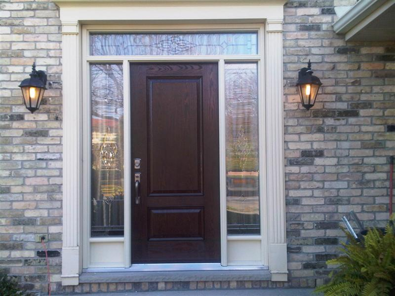 Fiberglass door with Painted frame