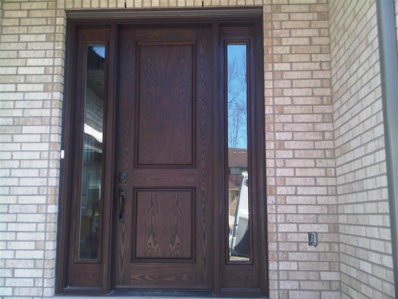 Fiberglass door with sidelights