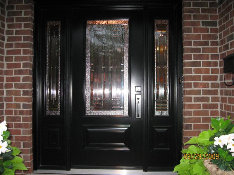 Front door with executive panels