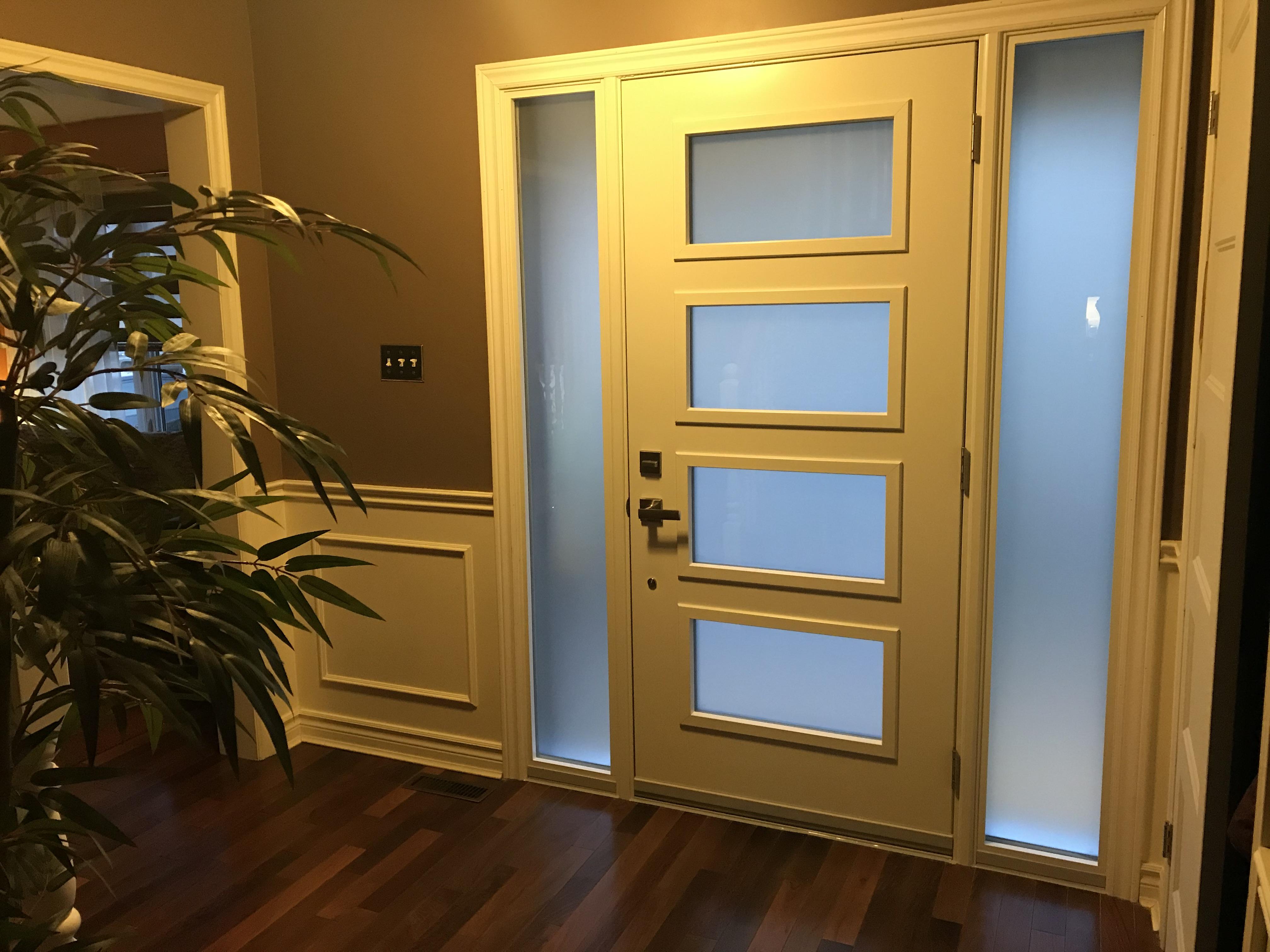 Front door from inside