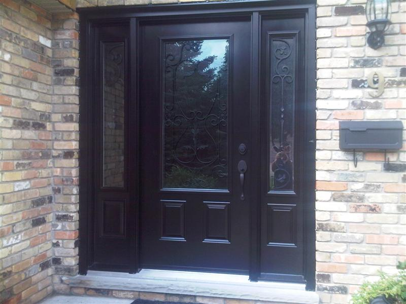 steel door with artefero glass