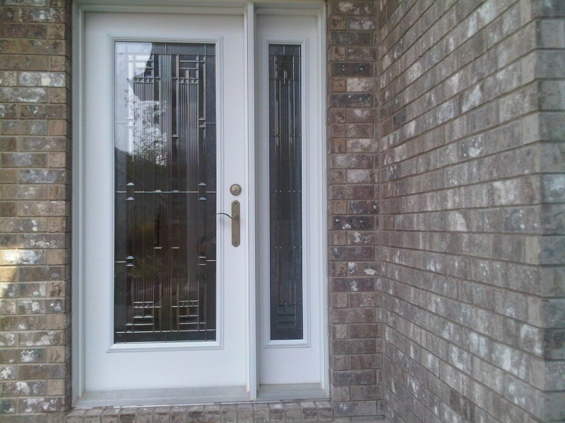 steel door with sidelight one side